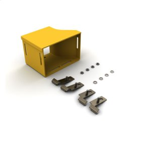 """Mighty Mo Fiber Raceway, Adapter Kit left hand, 4"""" x 4"""" to adc 6"""", yellow"""