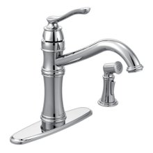 Belfield chrome one-handle kitchen faucet
