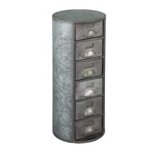 Marketplace Round Metal Chest