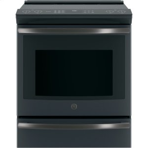 """GE ProfileSeries 30"""" Slide-In Front Control Induction and Convection Range"""