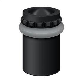 "Round Universal Floor Bumper Pattern Cap 2"", Solid Brass - Paint Black"