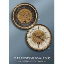 Leonardo Script Cream Wall Clock