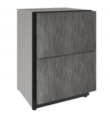"""2000 Series 24"""" Solid Refrigerator Drawers With Integrated Solid Finish and Drawers Door Swing"""