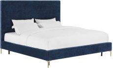 Delilah Navy Textured Velvet Bed in Full Product Image