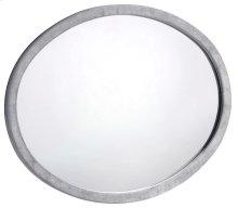 "Hudson Grey Velvet Mirror - 44""W x 35.5""H"
