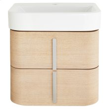 """Equility 22"""" Wall-Hung Vanity - Canvas White/Natural Oak"""