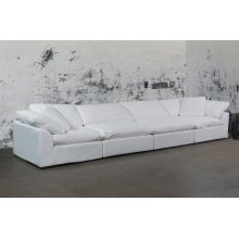 Sunset Trading Cloud Puff Slipcovered 4 Piece Modular Sectional Sofa - 391081