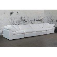 Sunset Trading Cloud Puff Slipcovered 4 Piece Modular Sectional Sofa - 391081