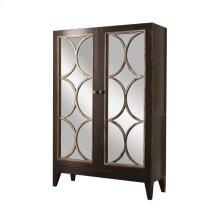 Cosmopolitan Curio with Mirrored Doors