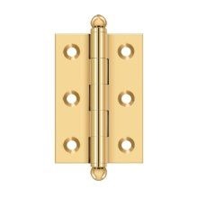 "2-1/2""x 1-11/16"" Hinge, w/ Ball Tips - PVD Polished Brass"