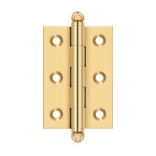 "2-1/2""x 1-11/16"" Hinge, w/ Ball Tips - PVD Polished Brass"