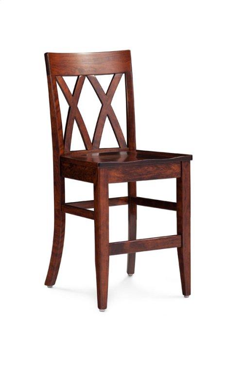 "Bristol Stationary Barstool, 24"" Seat Height"