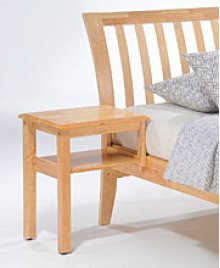 Clove Hook-on Nightstand in Natural Finish