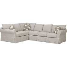 Jenny 2PC Sectional with Slipcover