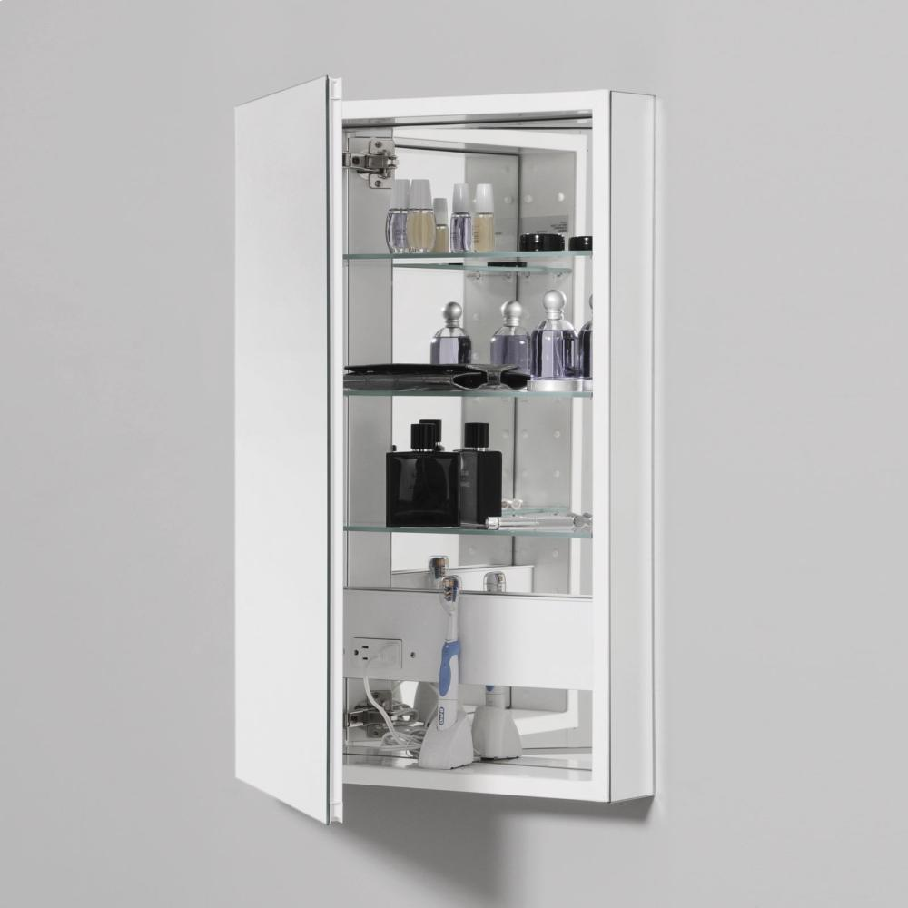"""Additional Pl Series 15-1/4"""" X 39-3/8"""" X 4"""" Flat Top Cabinet With Polished Edge, Non-handed, White Interior and Non-electric"""