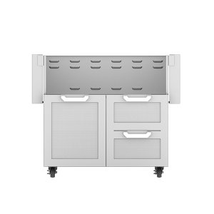 "Hestan36"" Hestan Outdoor Tower Cart with Door/Drawer Combo - GCR Series - Steeletto"