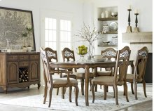 STANDARD 14361-14364-14365 Monterey Leg Table 20 Inch Leaf, 4 Side Chairs And 2 Arm Chairs