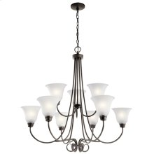 Bixler 9 Light Chandelier with LED Bulbs Olde Bronze®