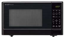 1.1 cu. ft. 1000W Sharp Black Carousel Countertop Microwave Oven (SMC1111AB)