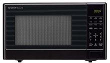1.1 cu. ft. 1000W Sharp Black Carousel Countertop Microwave Oven