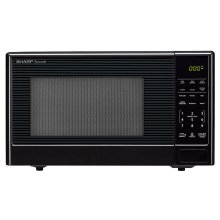 1.1 cu. ft. 1000W Sharp Black Carousel Countertop Microwave Oven