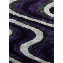 112 Gray Purple Rug