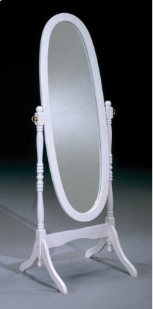 White Cheval Mirror