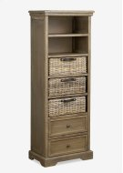 (SP) Simone Tall Bookcase (2 Drawers+3 Baskets+ 2 Shelves)-Grey (19X11X53) Product Image