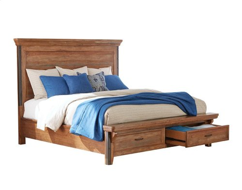 Taos King Bed Storage Footboard
