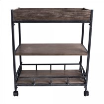 Armen Living Niles Industrial Cart Product Image