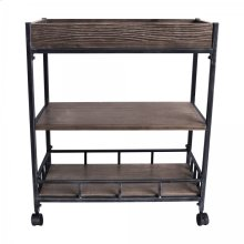 Armen Living Niles Industrial Cart