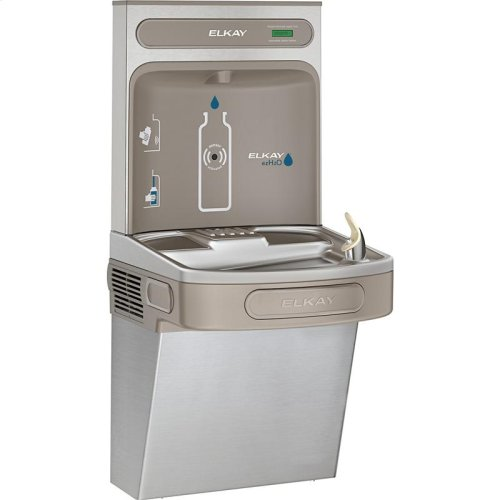 Elkay EZH2O Bottle Filling Station with Single ADA Cooler, Non-Filtered Non-Refrigerated Stainless