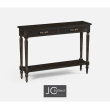 Dark Ale Parquet Console Table