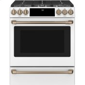 "30"" Smart Slide-In, Front-Control, Gas Range with Convection Oven"