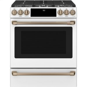 "Cafe30"" Smart Slide-In, Front-Control Gas Range with Convection Oven"