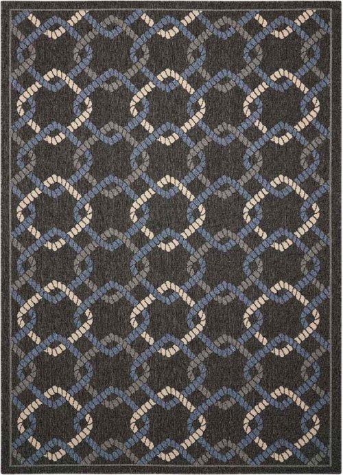 Caribbean Crb16 Charcoal Rectangle Rug 5'3'' X 7'5''