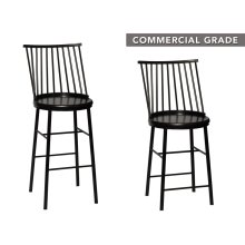 "Frida Barstool Black 19.3""x18.5""x46"""