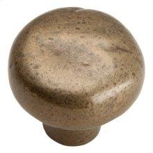 Distressed Round Knob 1 3/8 Inch - Champagne