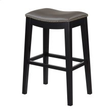30'' Bar Stool W/no Back-kd-pu Gray#al850-3 (2/ctn)