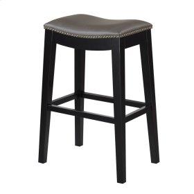 30'' Bar Stool W/no Back-kd-pu Gray#al850-3 (2/ctn)