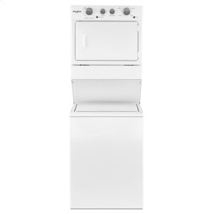 Whirlpool3.5 cu.ft Long Vent Electric Stacked Laundry Center 9 Wash cycles and AutoDry