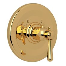 Italian Brass Verona Thermostatic Trim Plate Without Volume Control with Verona Series Only Metal Lever