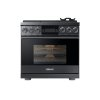 """Dacor 36"""" Pro Gas Range, Graphite Stainless Steel, Natural Gas"""
