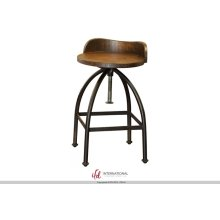 "24-30"" Adjustable Height Swivel barstool with wooden seat,Iron base**"