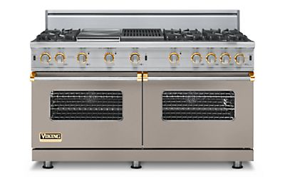"60"" Custom Sealed Burner Range, Propane Gas, Brass Accent"