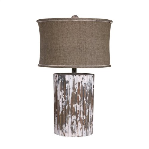 Wood Cylinder Lamp