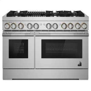 "Jenn-AirRISE 48"" Dual-Fuel Professional Range with Gas Grill"