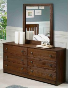 Chestnut Dresser and Mirror