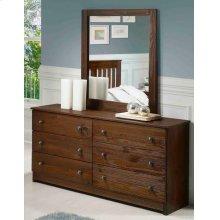 Chestnut Dresser and Mirror