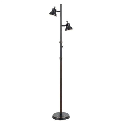 7W X 2 LED Metal Floor Lamp
